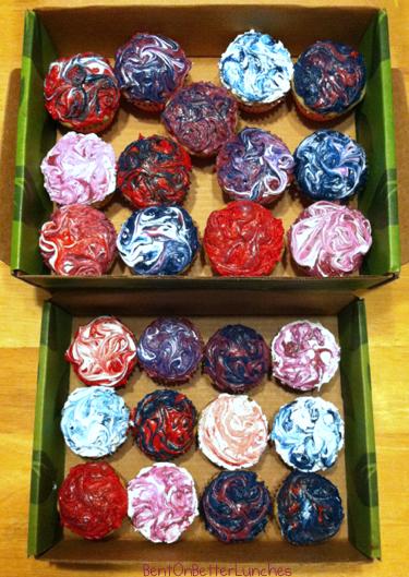 Tie Dye Cupcakes