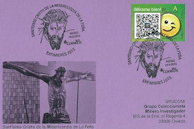 Matasellos del Santísimo Cristo de la Misericordia de La Peña de Mieres