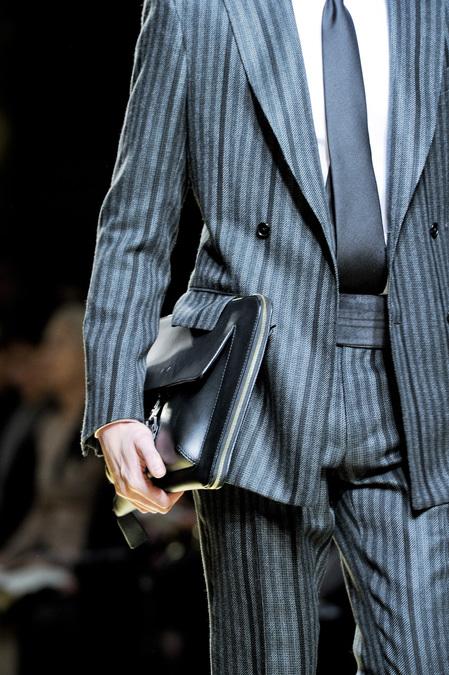 Beautiful detail of Ermenegildo Zegna's Fall/Winter 2013 suit