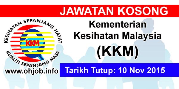 Jawatan Kerja Kosong Kementerian Kesihatan Malaysia (KKM) logo www.ohjob.info november 2015