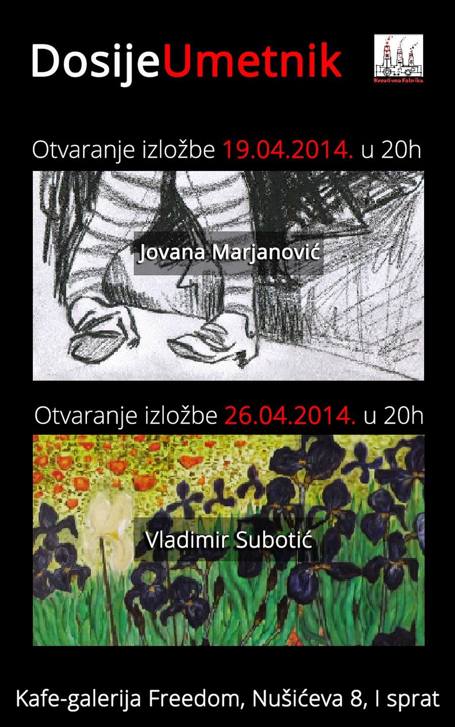 Projekat ,,Dosije Umetnik'' - izložbe udruženja Kreativna Fabrika