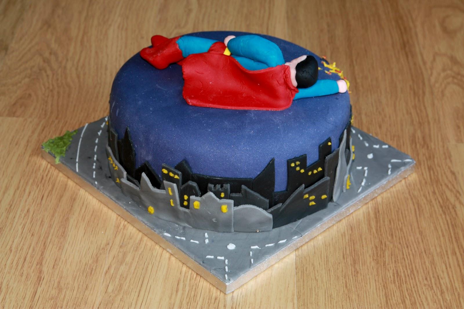 The Cake Trail Superman Chocolate Birthday Cake