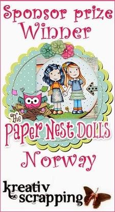Jeg vant hos Paper Nest Doll House!