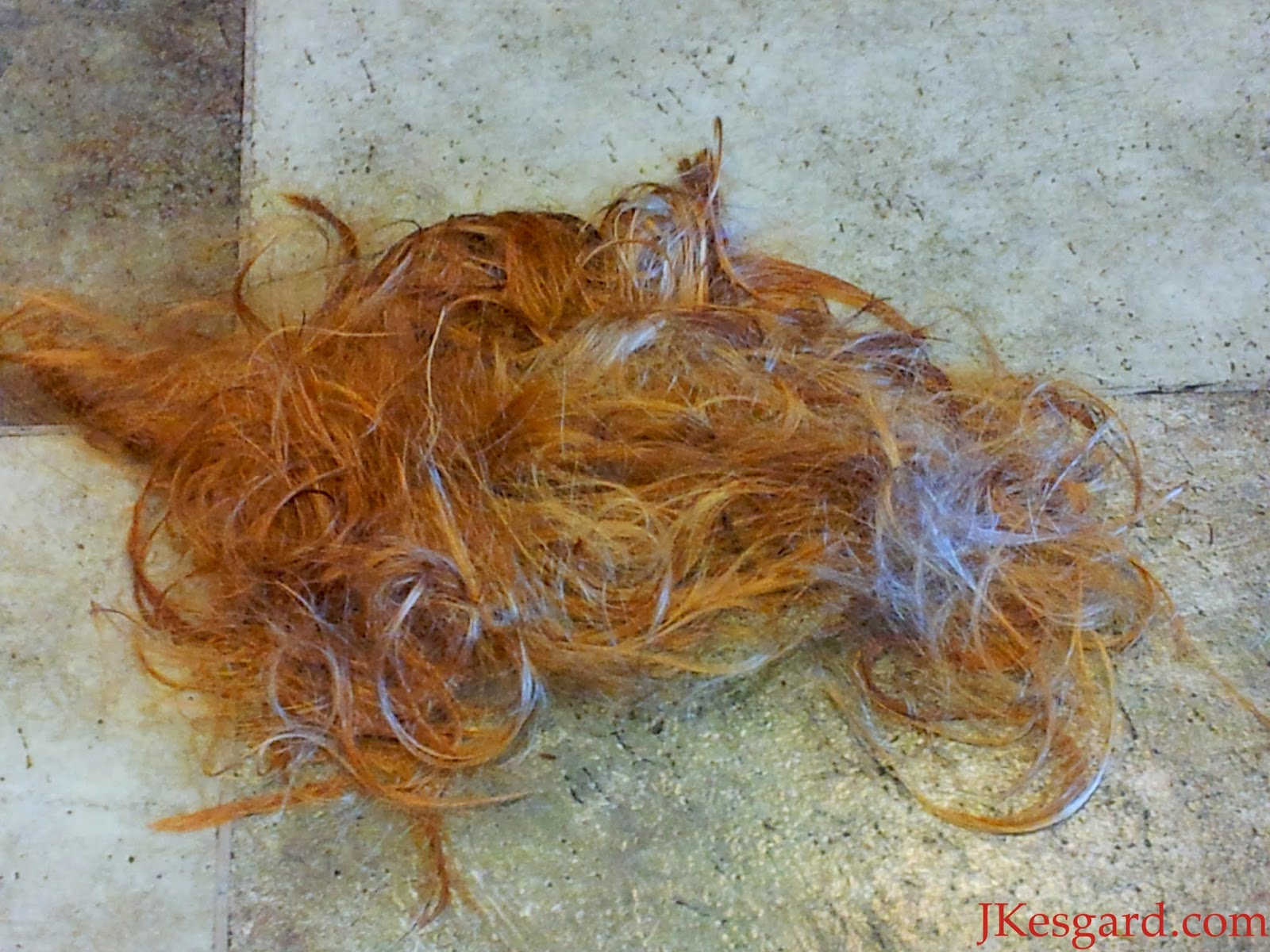 Pile of deceased color treated hair