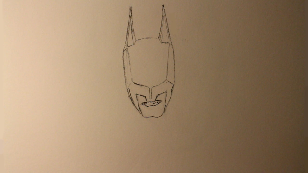 How to draw batman arkham knight