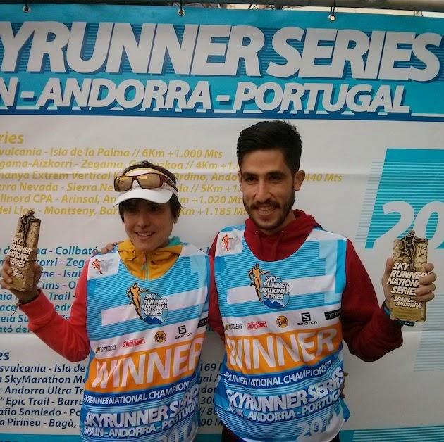 Maite Maiora y Pablo Villa, campeones de España del Skyrunner National Series en Vall del Congost . /OCISPORT