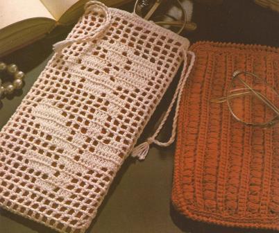 Estuche para gafas rosa a Crochet