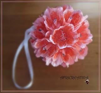 Addobbo floreale (con azalee) da appendere