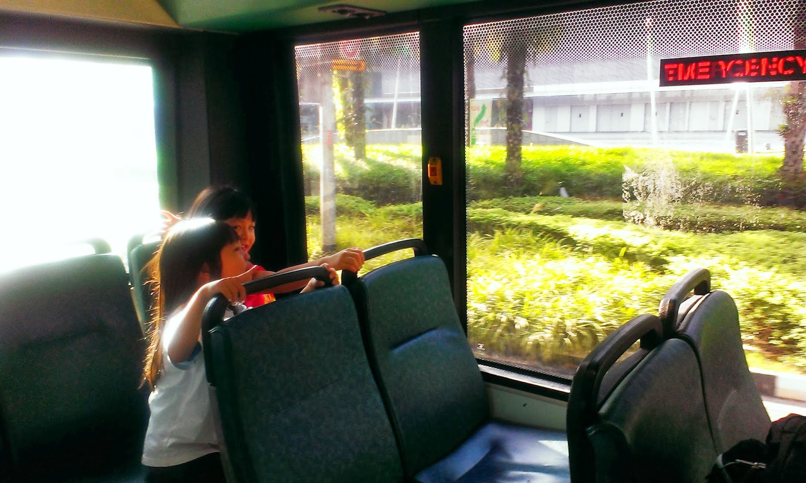 With Kids We Go Adventure Cove Waterpark Daddys Day Out Singapore Et Tiket Park Had The Shuttle Bus All To Ourselves