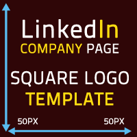 Linkedin company page square logo template