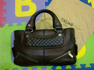 Celine Brown Quilted Leather Biker Boogie Bag(SOLD)