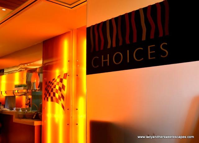 Choices restaurant in Yas Island Rotana