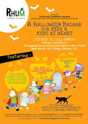 halloween bazaar for kids kids at heart happening this october 30 2011 sunday from 800 am to 830 pm at the bulwagang claret