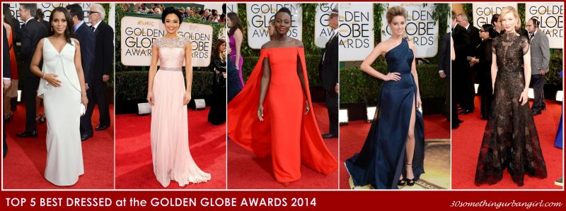 top 5 best dressed at the Golden Globe Awards 2014