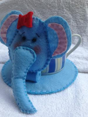Mug Rug Elefantinha