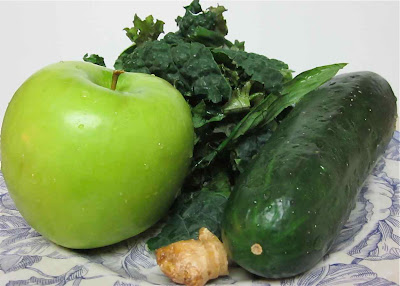 granny smith apple, kale, cucumber, and ginger