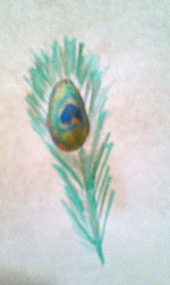 When My Pencil Speaks Peacock And Flower Paintings