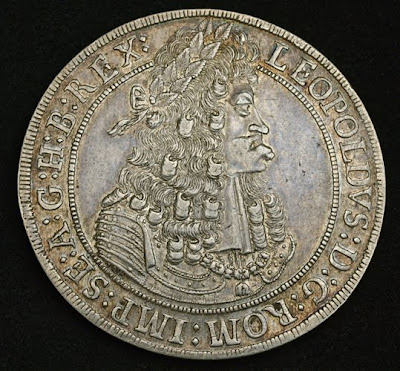 Silver thaler of Leopold I, Emperor Holy Roman Empire