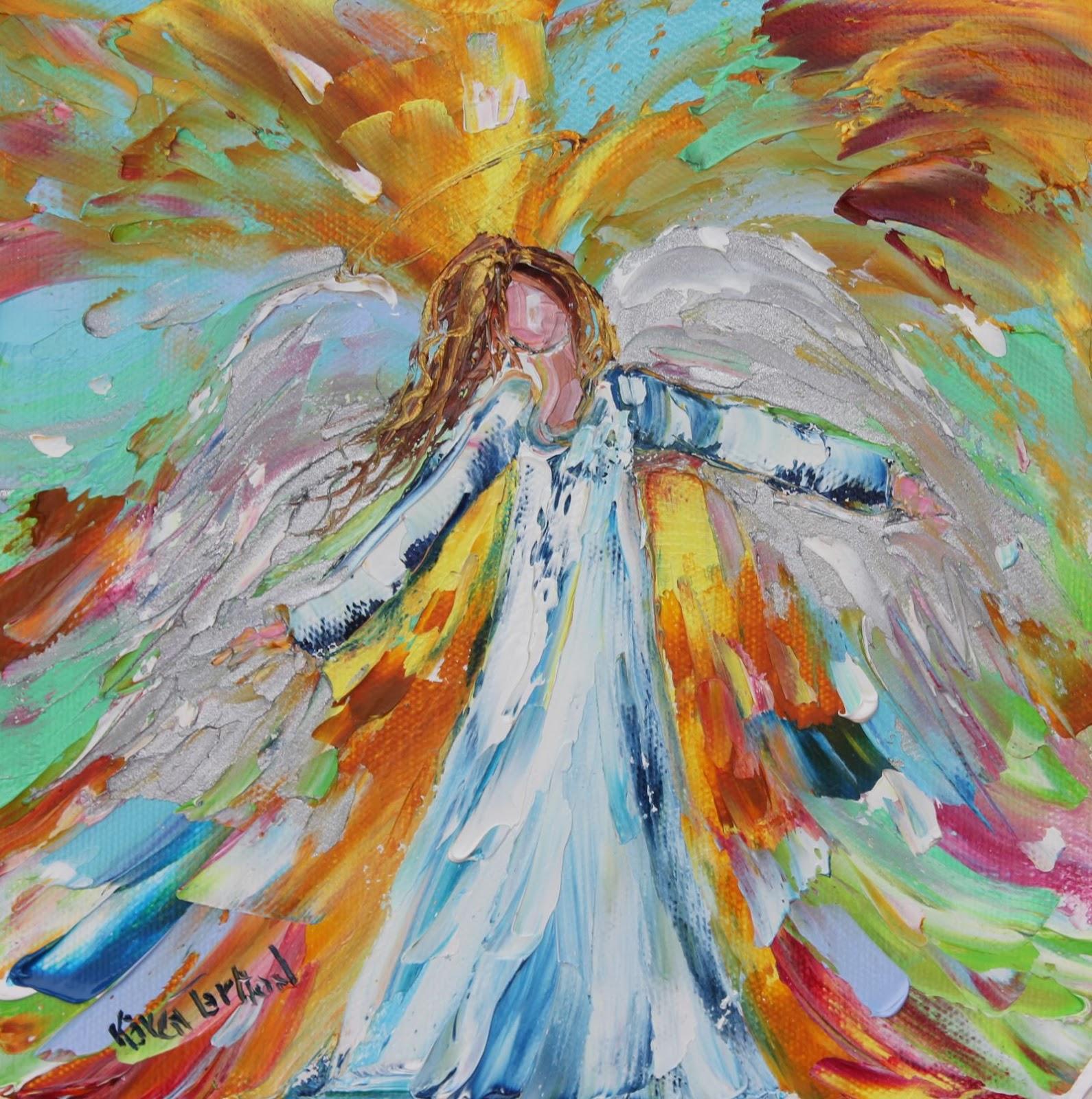 Oil Painting Angels Angels Original Oil Oil Paintings Of Angels