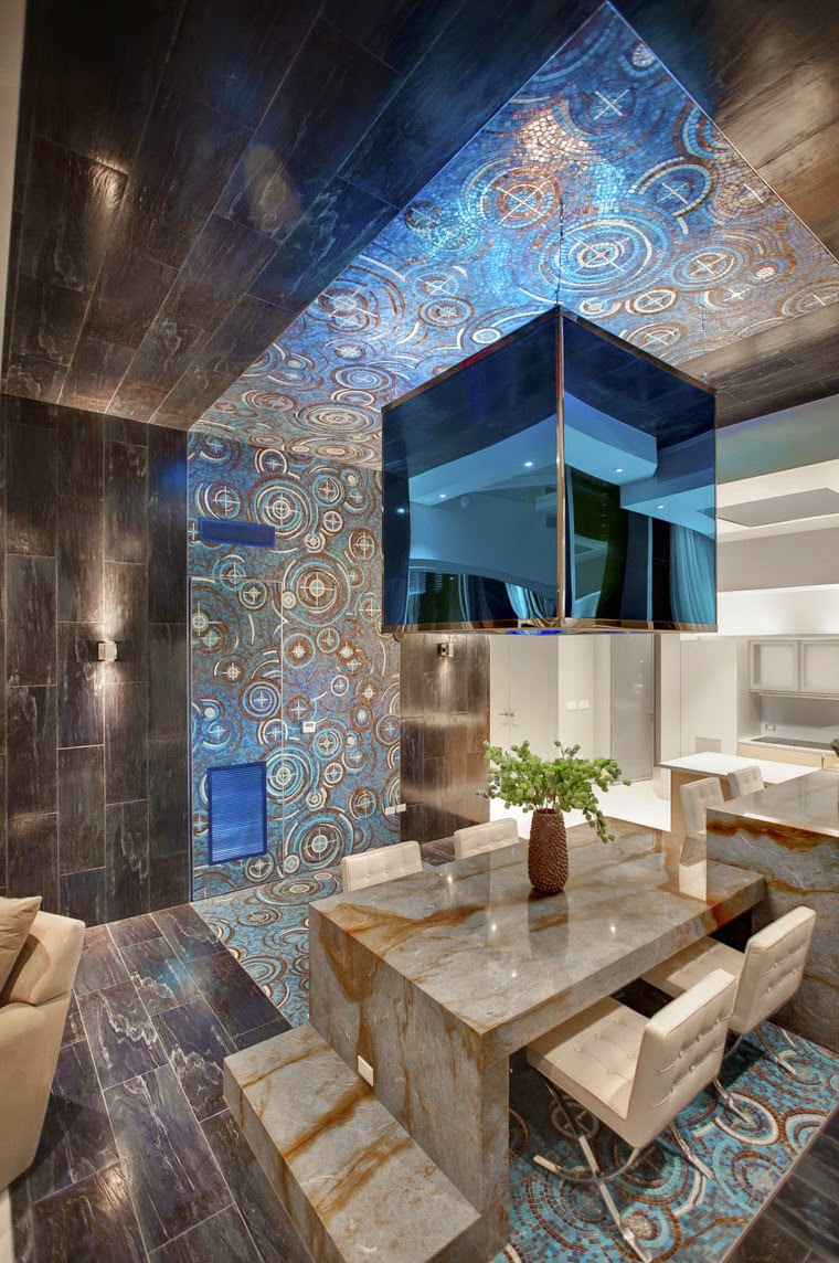 Penthouse Club Design Home Nightclub Chemical Spaces, Art Mosaic Tiles
