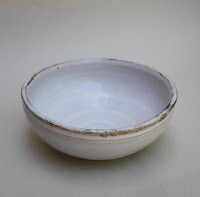 white, bowl, Amy Myers, rustic, collection, stoneware, clay, works, vessel, hand-thrown, glaze, ceramic, middle ages, medieval, quiet, worksofmyers, arte, art