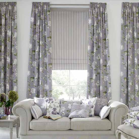 Home interior design and interior nuance modern living for Modern living room curtain designs pictures
