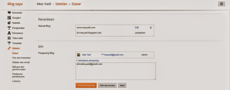 Cara Mengundang Email Teman Menjadi Admin / Penulis di Blog Kita