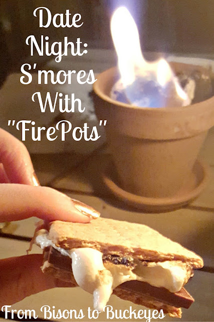 s'mores with fire pots