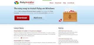 Cara install ruby di windows