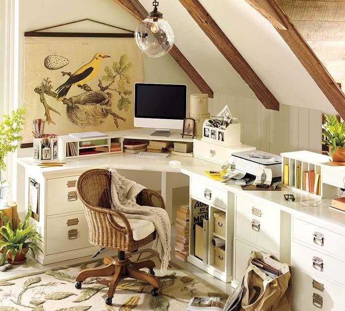 Souvent Idées créatives de bureau à domicile ~ Décor de Maison  PL08