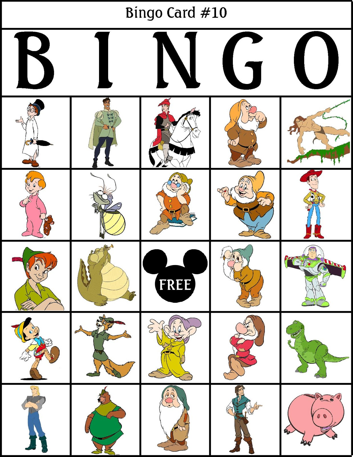 It's just a graphic of Dashing Character Bingo Template