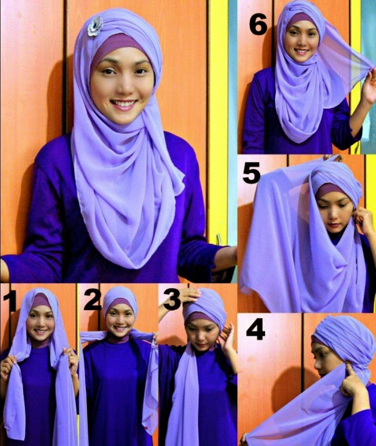 Tutorial Hijab Pashmina Chiffon Jasmin