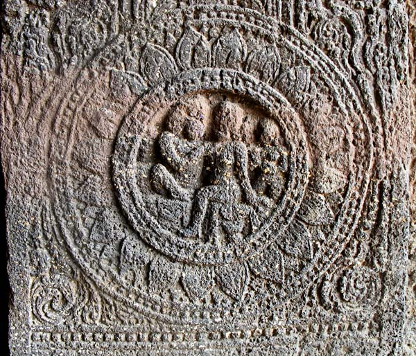 carvings from the aurangabad temple caves in India