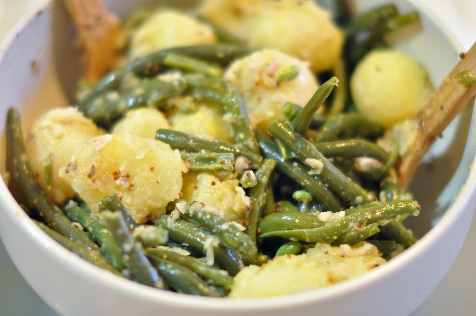 Warm Green Bean Salad Recipe — Dishmaps