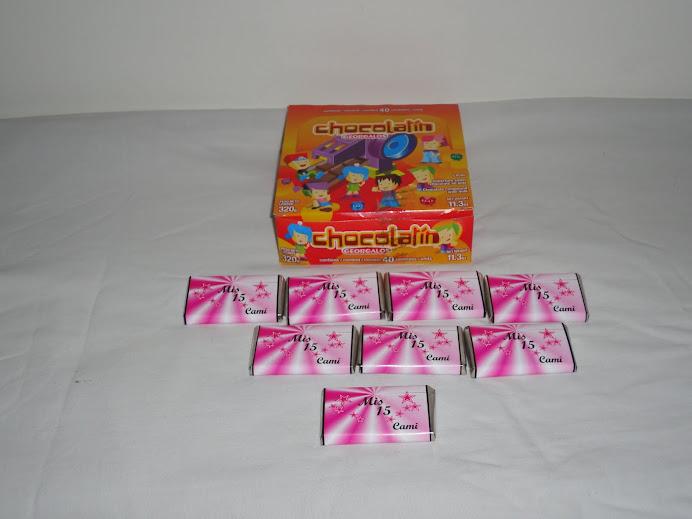 chocolates 15 años personalizados