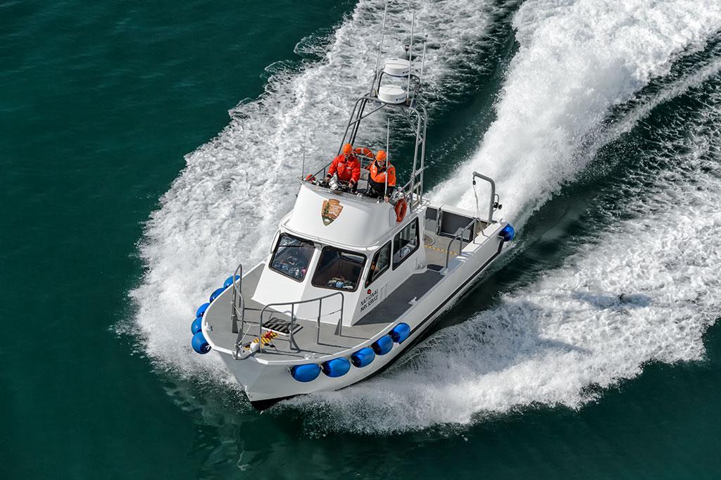 "National Park Service ""Serac"" 53 foot Class M/V Modutec Fiberglass boat"