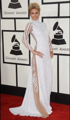 paris hilton grammy 2014