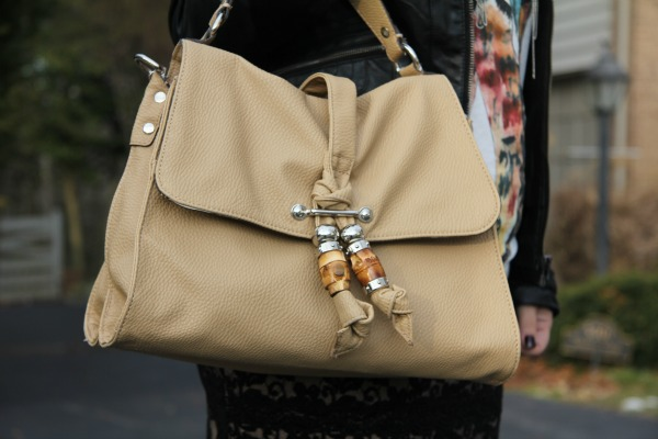 Beige Leather Bag from TJ Maxx