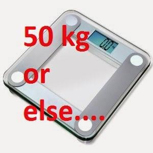 bathroom scale, 50 kg