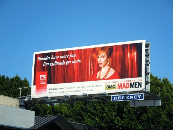Vintage style Mad Men Emmy 2014 billboard