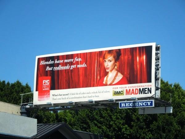 Vintage style Mad Men Emmy 2014 billboard
