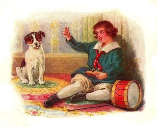 boy dog storybook clip art