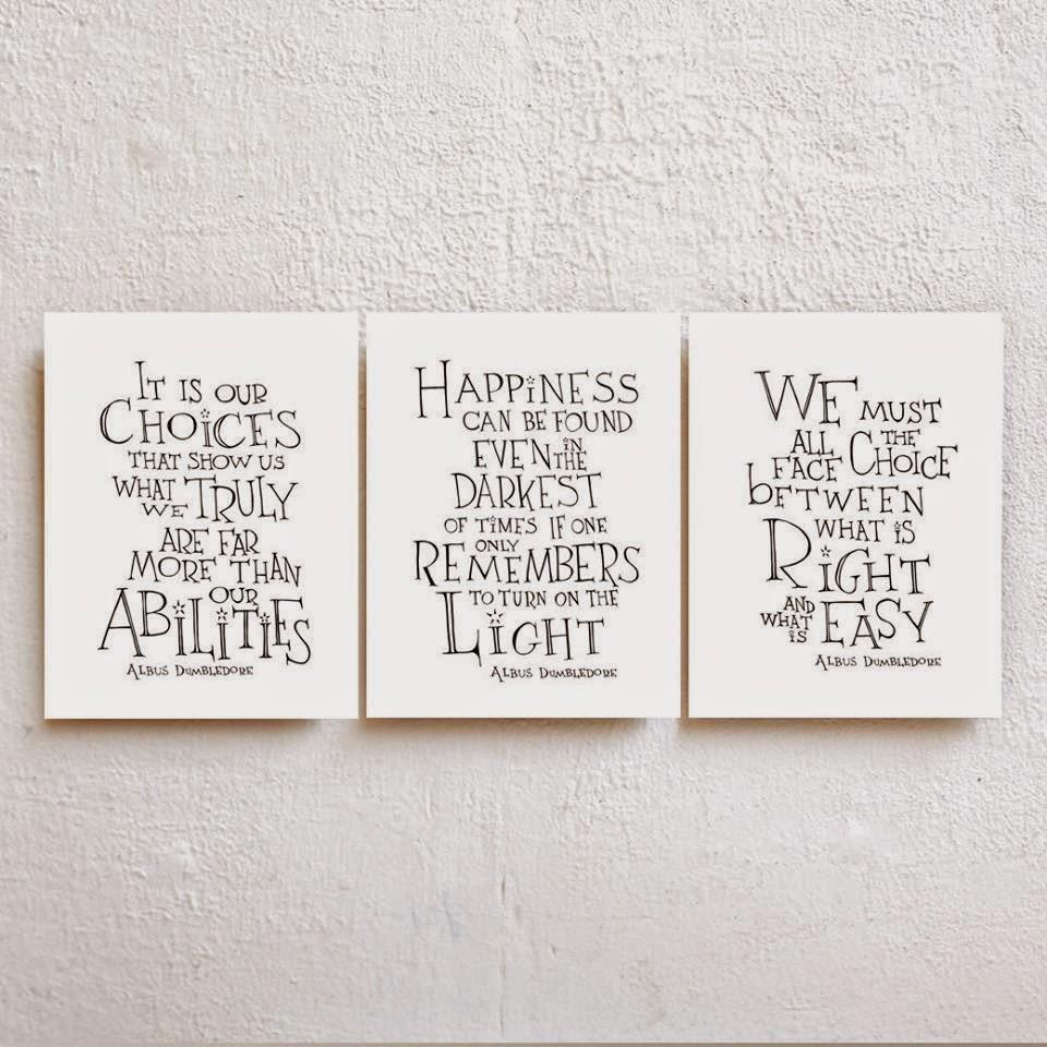 Cuadros con las mejores frases de albus dumbledore el - Cuadros con fotos originales ...