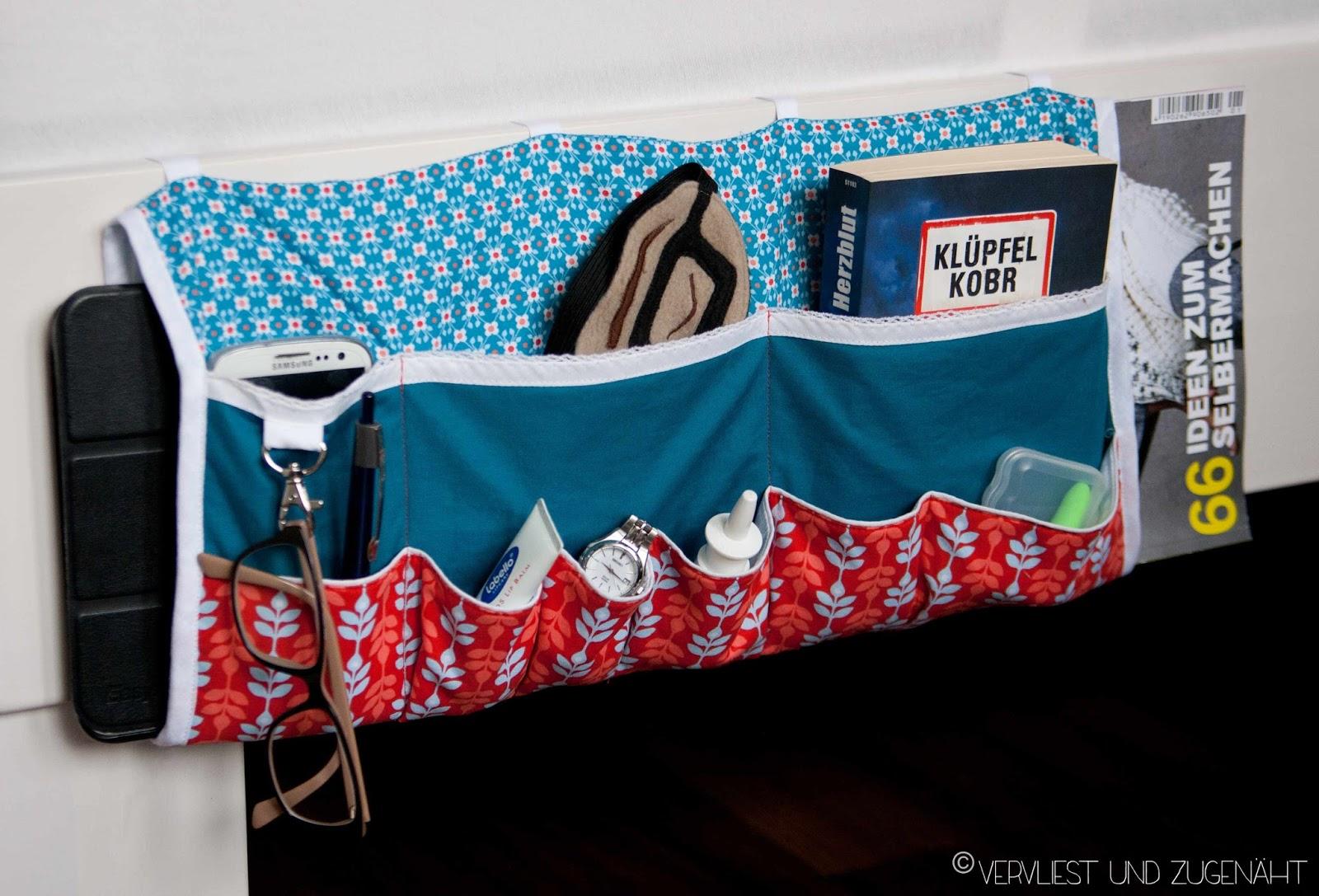 Vervliest und zugen ht bedside caddie bett utensilo for Bett organizer