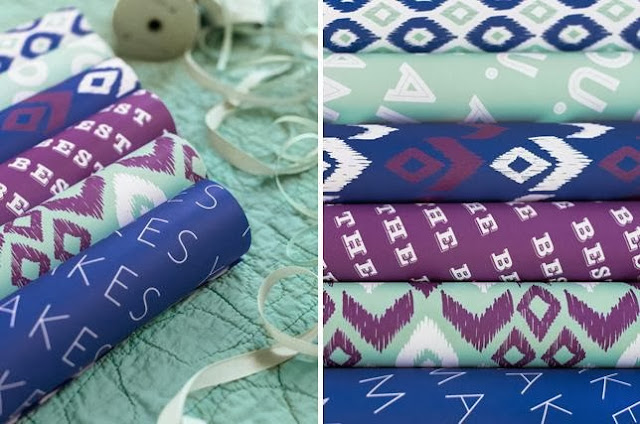 Ikat Double Sided Gift Wrap