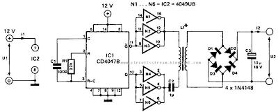 Low power Dc-Dc Converter Circuit Diagram