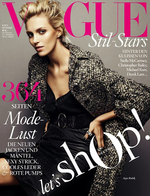 Anja Rubik su Vogue Germania in Prada