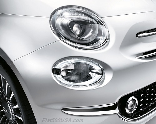 New Fiat 500 Headlight and Driving Light