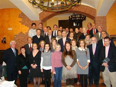 Foto de familia de la renión de rotarios en Béjar