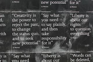 Ai Weiwei, Lisson Gallery, la creatività è il potere di rigettare il passato